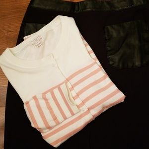 J. Crew The Caryn Cardigan Pink Stripe